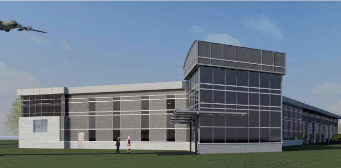 An artist's concept of CFB Trenton's new fire hall. The hall is expected to be complete by summer of 2013.
